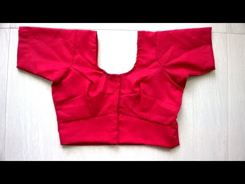 Saree blouse cutting and stitching easy method part-1