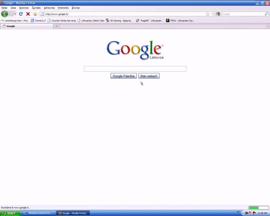 Kaip uzeiti i Google.lt - YouTube