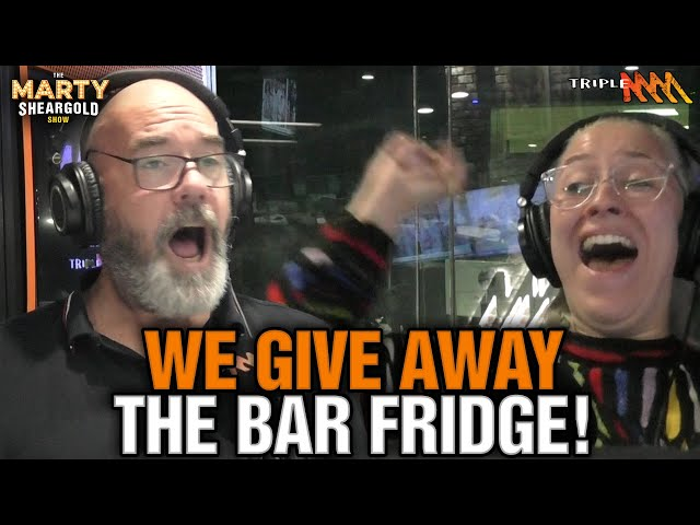 Big Carry On When Someone Wins The Bar Fridge! | The Marty Sheargold Show | Triple M