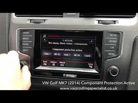 VW Golf MK7 (2014) Component protection removal