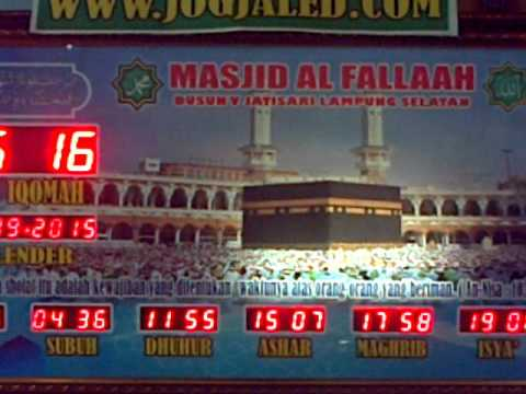 digital pray time background mecca , time for sholat