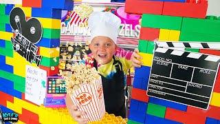 Secret Giant Lego Movie Theater Drive Thru Restaurant!