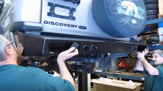 Installing Steel Bumpers And Winch On Discovery Series II video screen shot