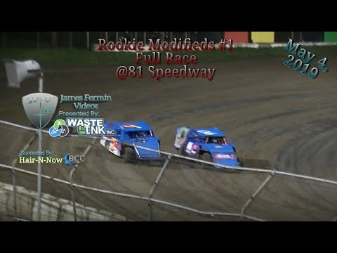(Rookie) Modifieds #23, Full Race, 81 Speedway, 05/04/19