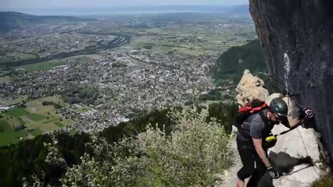 Klettersteig Via Kapf : Klettersteige via Örfla kessi kapf youtube