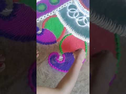 Latest diwali rangoli part 1🎉🎊🌷🌹