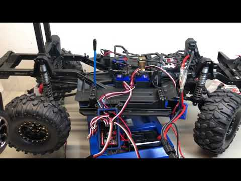 Traxxas TRX4 External castle creations BEC connection  to stock electronics Savox 1230sg Servo