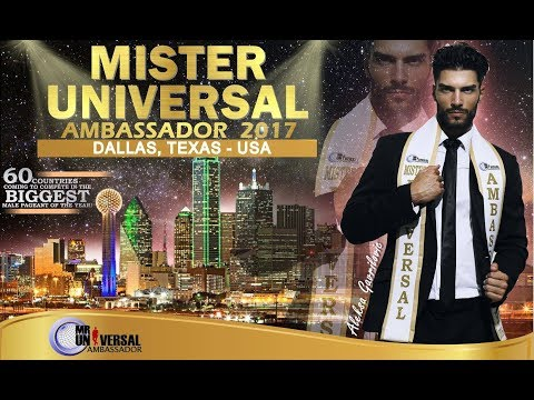 Mister Universal Ambassador - Dallas, Texas in 2017