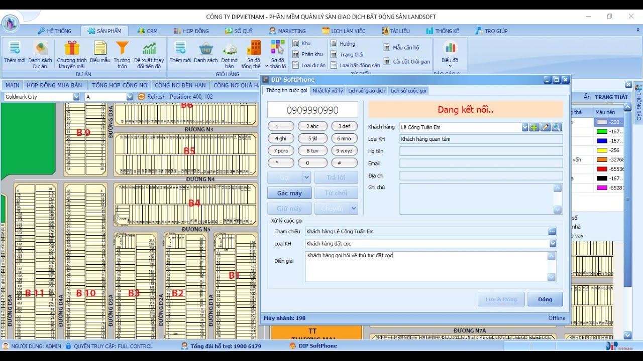 [Tranning] Phần mềm quản lý kinh doanh bất động sản Landsoft Xuân Mai