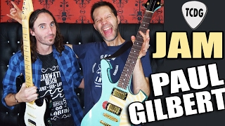 INCREÍBLE! Guitar Jam con PAUL GILBERT 2017!