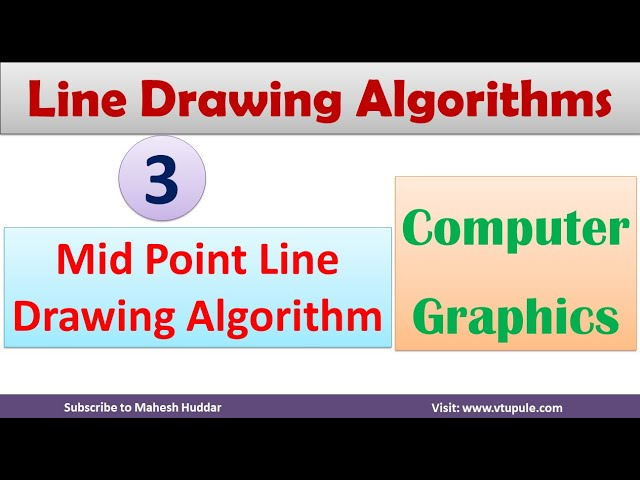 3. Mid Point Algorithm | Line Drawing Algorithm | Line Drawing in Computer Graphics by Mahesh Huddar