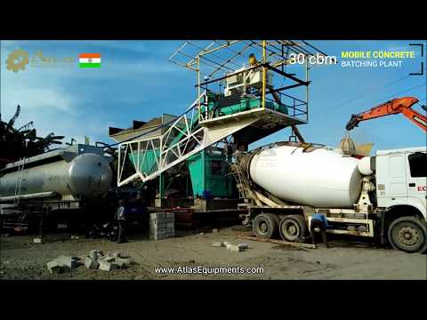 30 Cbm Mobile Concrete Batching Plant - Made In India Working In Philippines