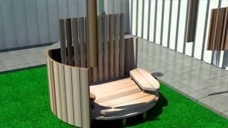 Størvatt Wood Fired Hottub, Animated