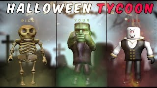 TODAY HUMANITY WILL BE DESTROYED !!!! ZOMBIES! Halloween Tycoon / Roblox English / ERcan Oz