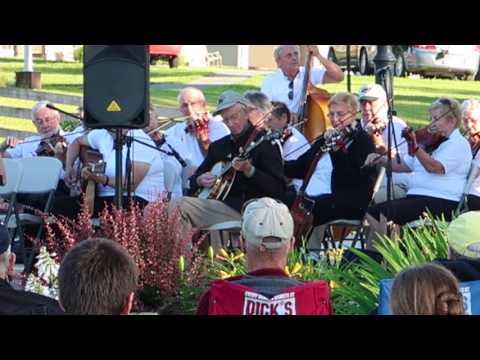 Banjo Player and Fiddlers at Maine Potato Blossom Festival 2017