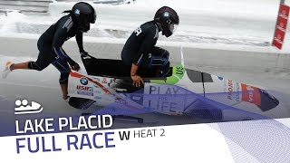 Lake Placid | BMW IBSF World Cup 2016/2017 - Women's Bobsleigh Heat 2 | IBSF Official