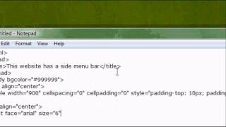 Html Website Design Tutorial - How To Make  A Side Menu Bar