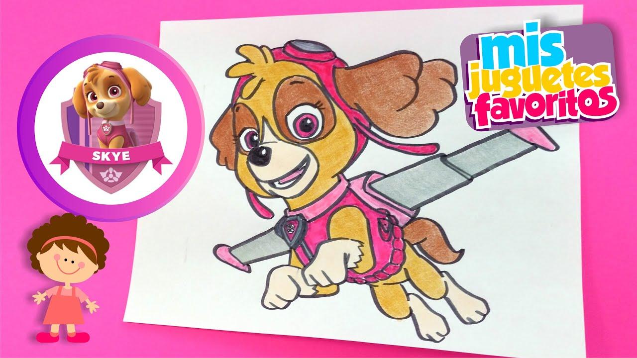 Dibujos Patrulla Canina En Color: Dibujando A Skye De La Patrulla Canina