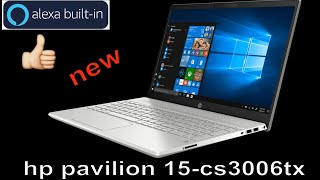 HP Pavilion 15-cs3006tx 15.6-inch Laptop 10th Gen i5-1035G1 Mineral Silver with alexa.