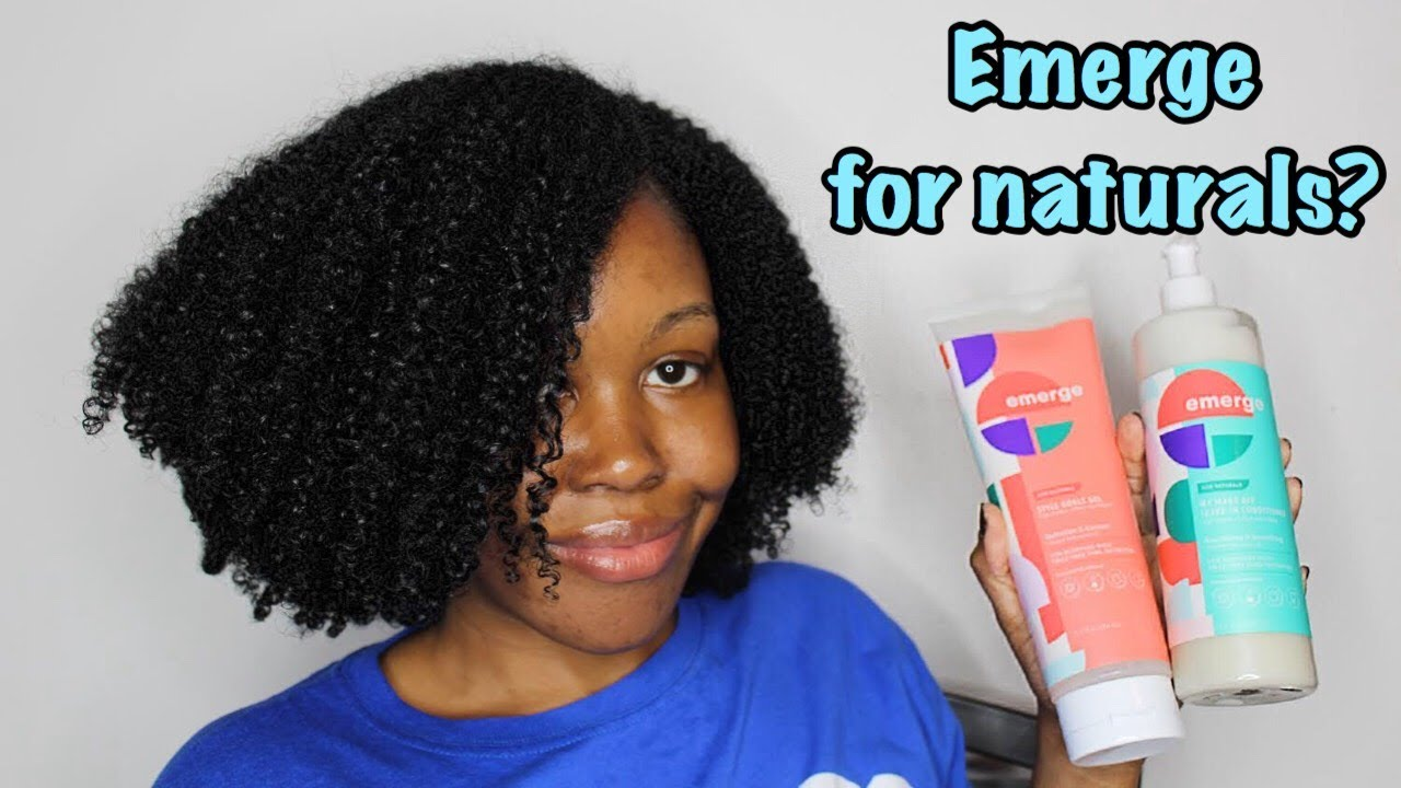 Emerge For Naturals Hair Care Styling Products On Thick Type 4 Low Porosity Hair Youtube