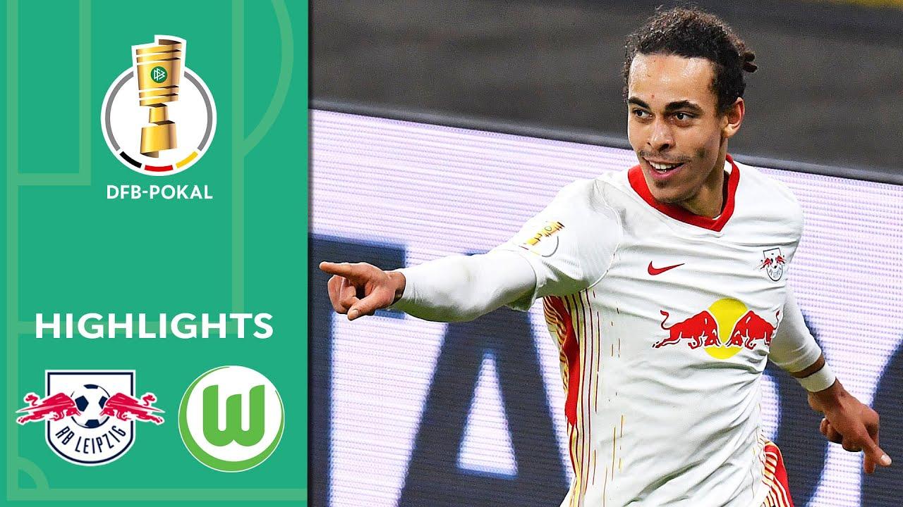 Poulsen & Hwang for the Win   Leipzig vs. Wolfsburg 2-0   Highlights   DFB-Pokal Quarter Finals