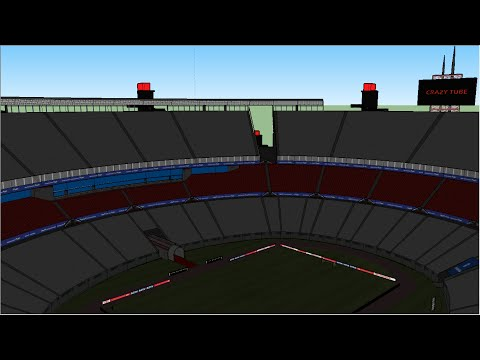 Google Sketchup Speed Building - stadium 6