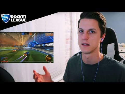Reacting to myself playing Rocket League from 1 year ago thumbnail