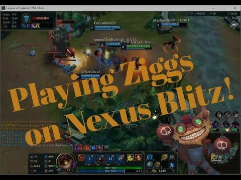 League of Legends Gameplay Playing Ziggs !!
