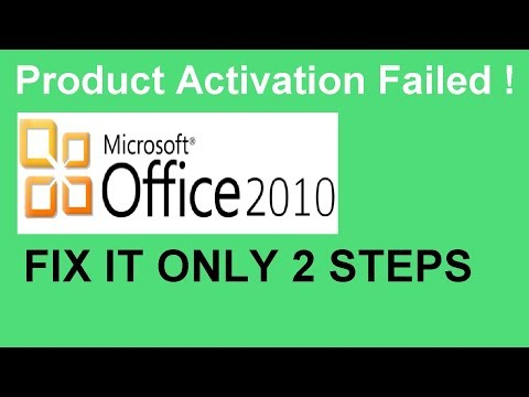 word 2010 product activation failed