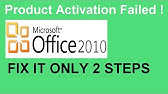 microsoft office product activation failed red bar