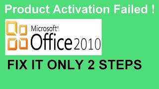 Product activation failed Office 2010 | 100% working Method (2018)