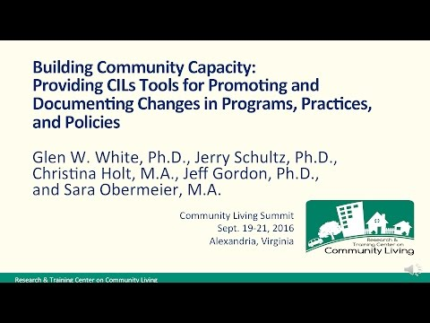 Building Capacity for Full Community Participation