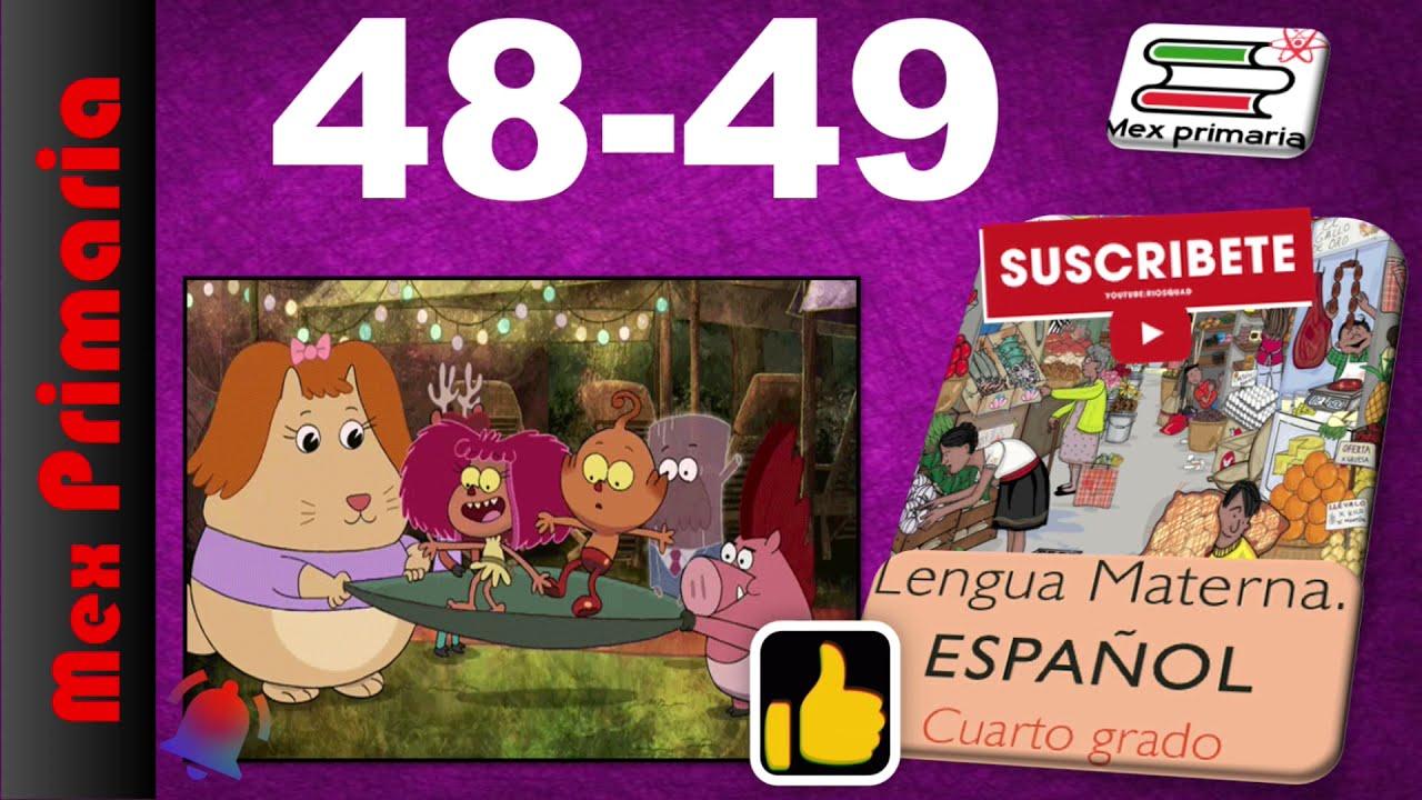 ESPAÑOL 4 paginas, 48,49,español 4 pag , 48,49,Lengua Materna español 4 pag , 48,49,