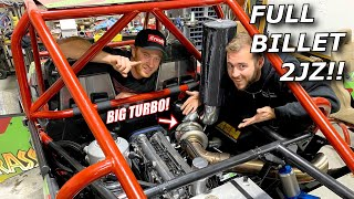 1000HP 2JZ swapped RZR gets a FULL BILLET ENGINE! Will it start?