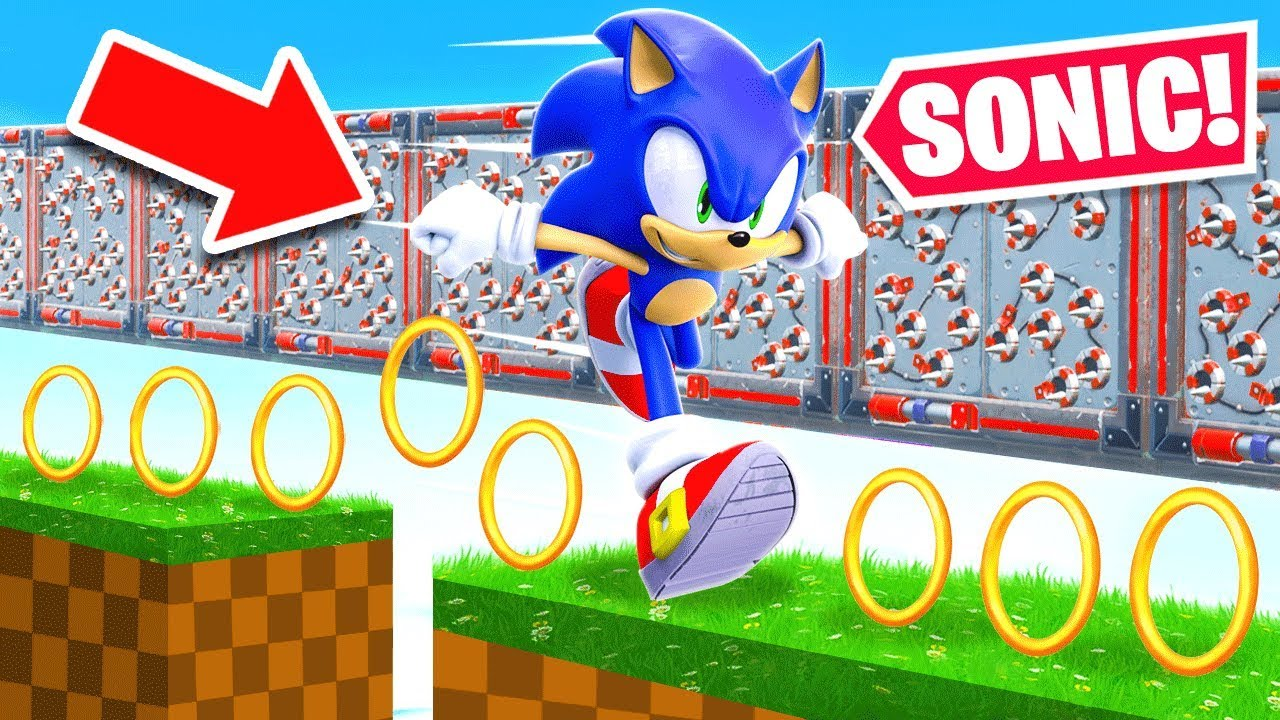 100 Stage Sonic Deathrun For Loot New Game Mode In Fortnite