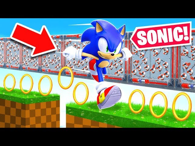 100 STAGE *SONIC* DEATHRUN For LOOT *NEW* Game Mode in Fortnite Battle Royale