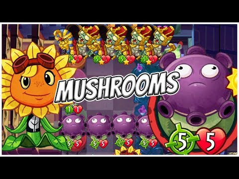 Solar Flare's All Mushrooms Deck - Plants vs Zombies Heroes Gameplay