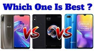 Asus Zenfone Max Pro M2 Vs Xiaomi Redmi Note 5 Pro Vs Realme U1 | Which One Is Best ?