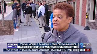 Towson's women's basketball team headed to the big game thumbnail