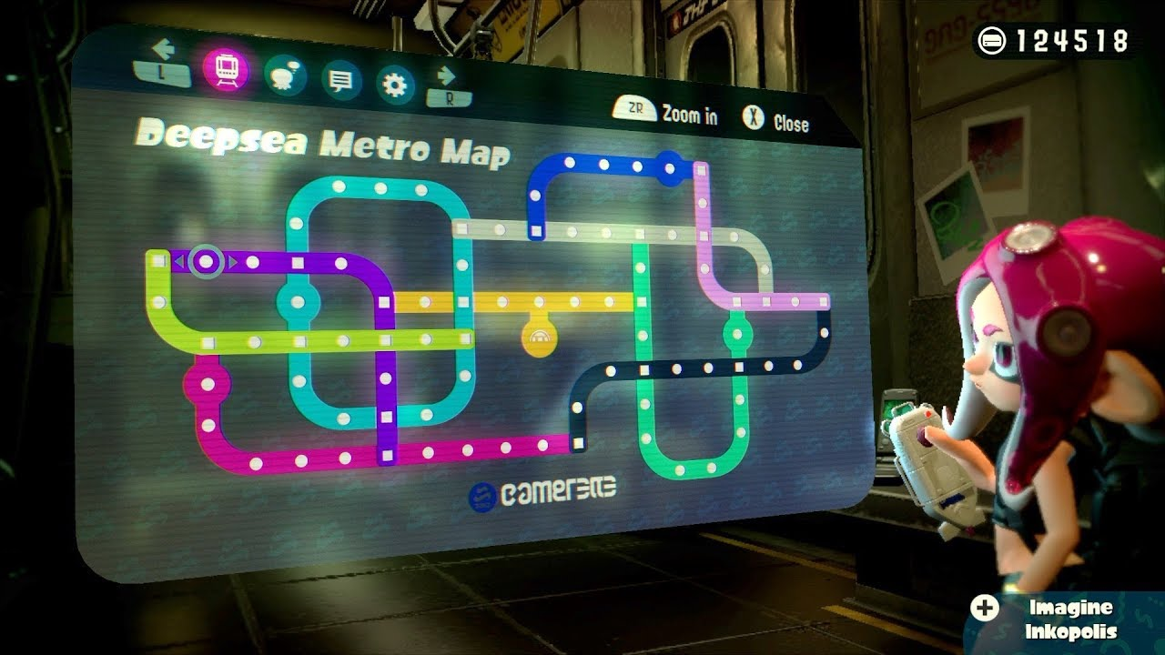 Splatoon 2 Octo Expansion Subway Map.100 Completed Octo Expansion Splatoon 2