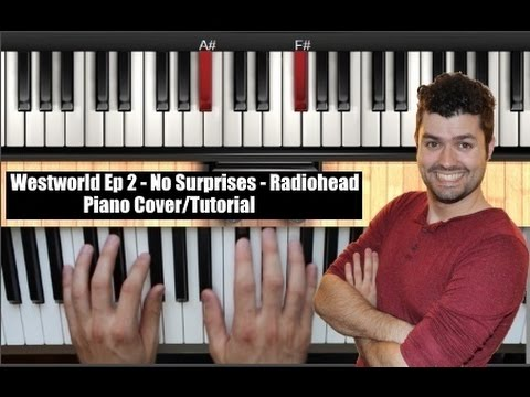 Westworld - No Surprises (Radiohead) Ep 2 - Bar Piano Song Tutorial