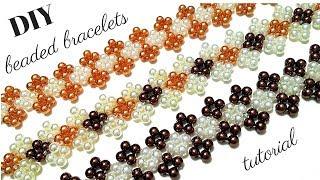 Beaded bracelets. Beading tutorial. Beginner DIY Bracelets