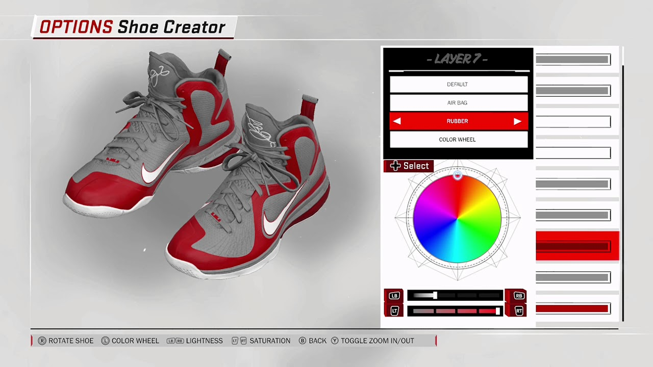 save off 68a5c 63df9 NBA 2K18 Shoe Creator - Nike LeBron 9