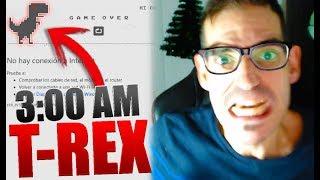 JUGANDO AL T-REX A LAS 3 AM SIN CONEXIN DE INTERNET El Juego del dinosaurio de Google