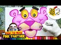 HOW TO DRAW THE PINK PANTHER | Best Cartoon Characters Drawings | BLABLA ART