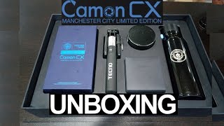 Camon CX Manchester City Limited Edition Unboxing with 64GB Storage + 4GB RAM