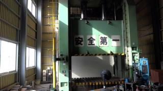 アミノ 油圧プレスPF400K 試運転1