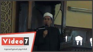 بالفيديو..مظهر شاهين بخطبة الجمعة عن حادث الطائرة :
