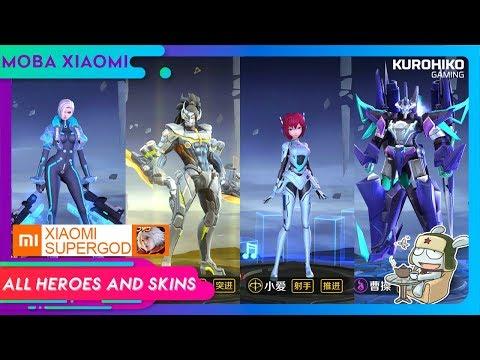 Keren Banget 😍 !! Semua Hero Dan Skin Di MOBA Xiaomi Supergod - 小米超神