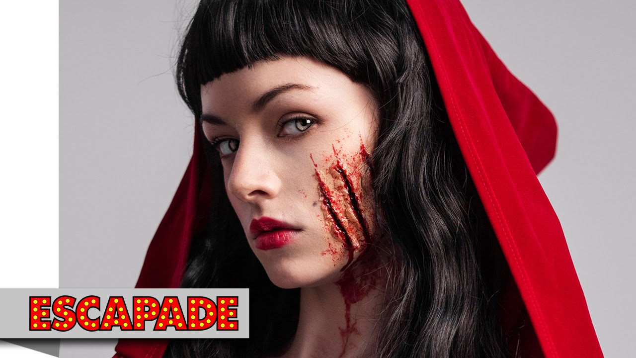 Deadly Red Riding Hood Makeup Tutorial  Halloween Makeup - Red Halloween Makeup
